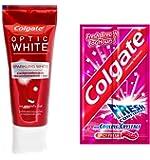 (コルゲート)Colgate オプティック ホワイト 携帯に便利!パウチ歯磨き粉 付き