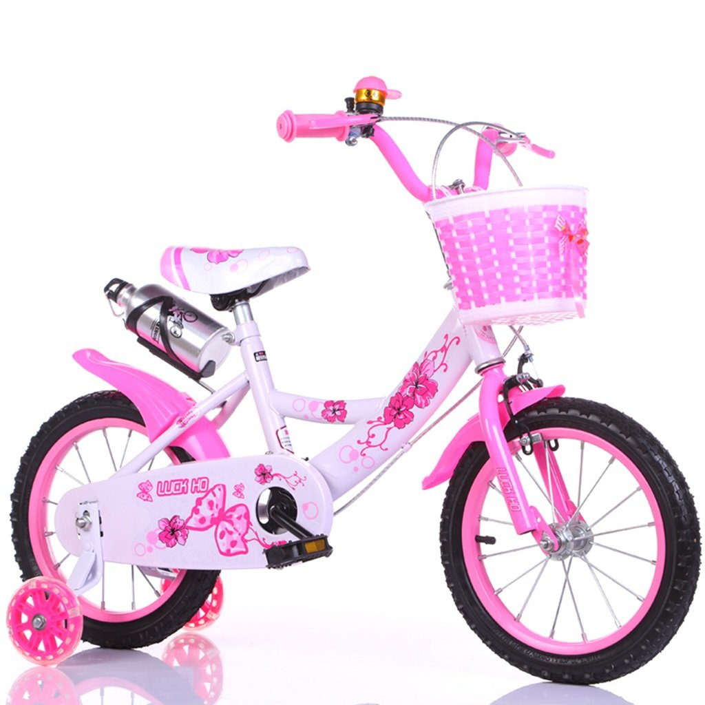 QFF 自転車、男の子、女の子自転車安全な子供時代の自転車2-9歳の赤ちゃん補助ホイール自転車88-121CM ZRJ (色 : ピンク ぴんく, サイズ さいず : 88CM) B07D379PXM 88CM ピンク ぴんく ピンク ぴんく 88CM