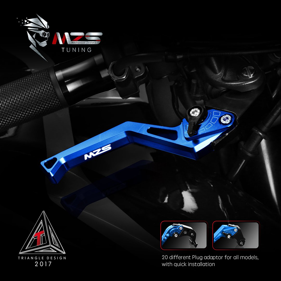 MZS Short Levers CNC Brake Clutch Adjustment compatible Honda GROM MSX125 JC61 MLHJC618 2014 2015 2016 2017 2018 2019 Blue
