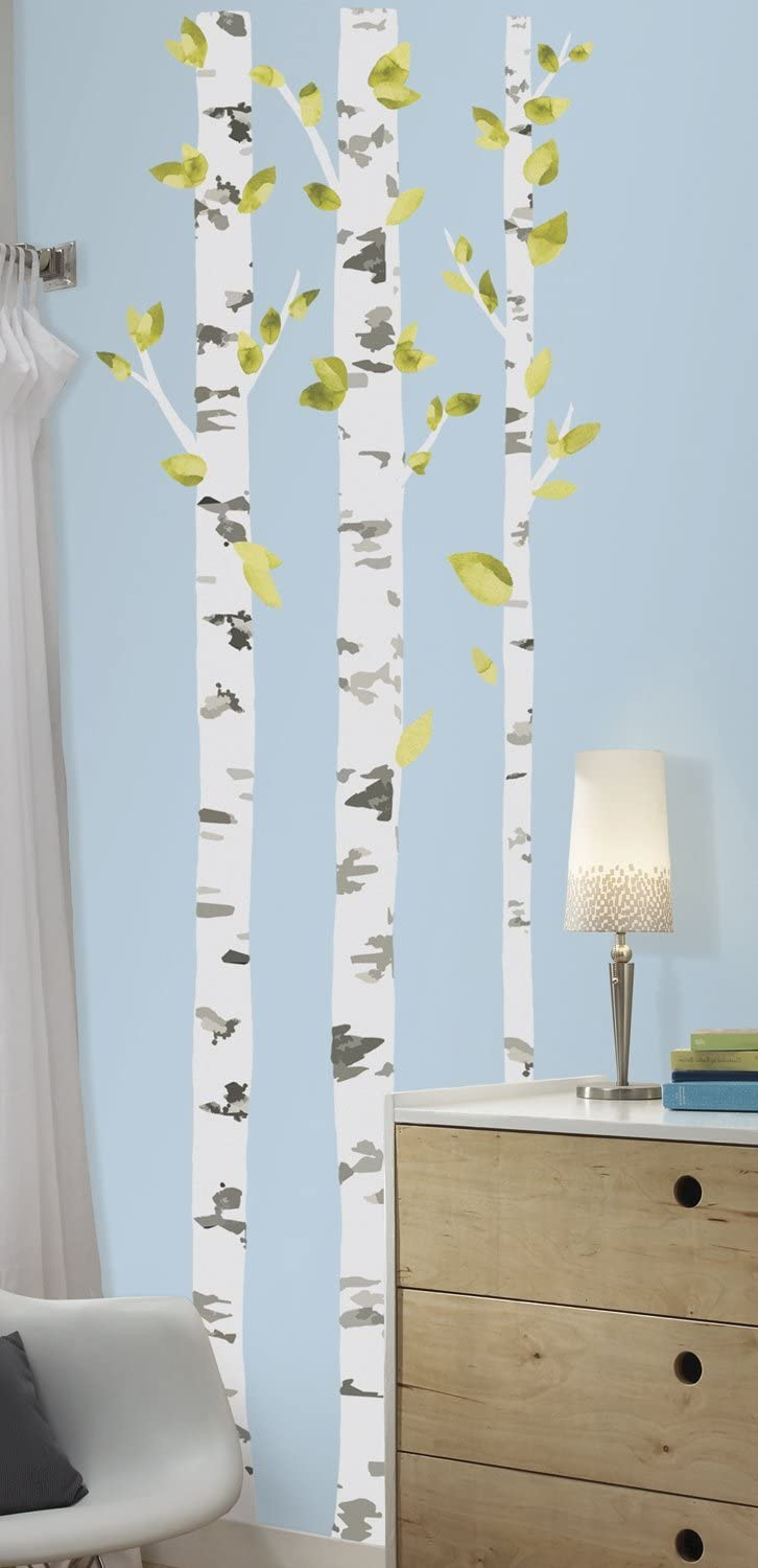 Roommates Rmk2662gm Birch Trees Peel And Stick Giant Wall Decals Multicolor Home Improvement