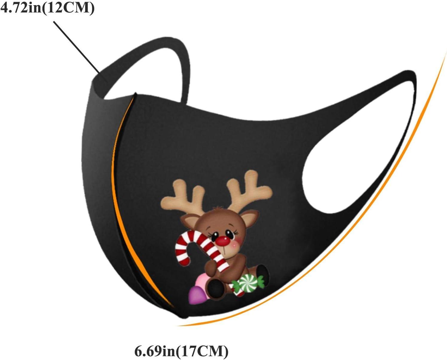 6 Piezas Masks-Mascarillas Adultos Visera Navidad