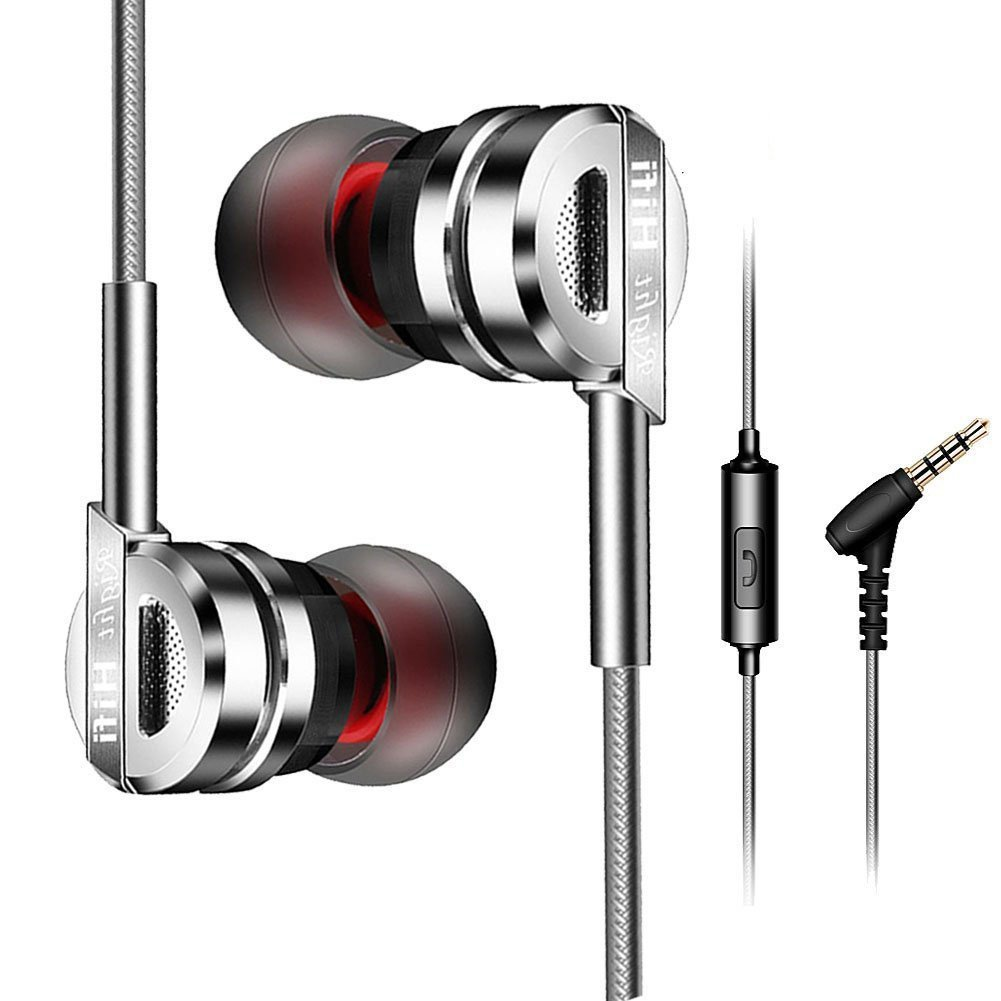 df9357996e9 Wired Earbuds,in-Ear Metal Earphones,Stereo Bass Headphones with Microphone  Compitable Apple and Android,Laptop and More