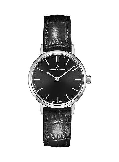Claude Bernard de mujer reloj de pulsera Classic Slim Line analógico de cuarzo 20215 3 NIN