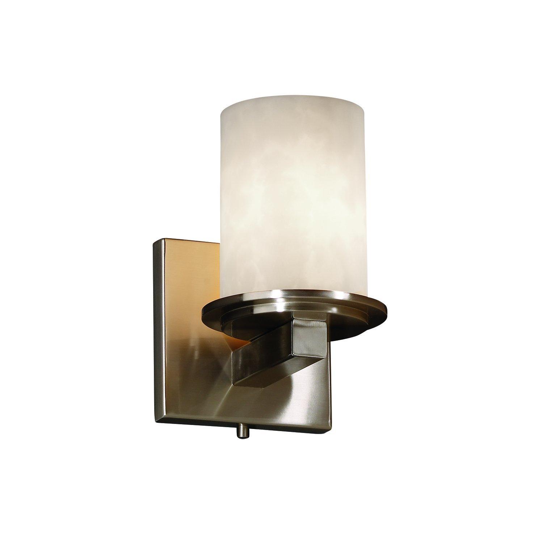 Justiceデザイングループcld-8771 Dakota Single Light Up Or Down照明壁Sconc、 CLD-8771-10-NCKL 1 B003YPOFDQ