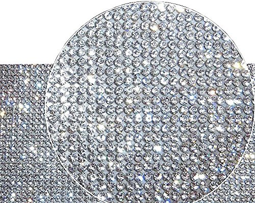 (Ling's boutique(TM) 9000pcs Bling Crystal Rhinestone DIY car Decoration Sticker (White(Transparent)))