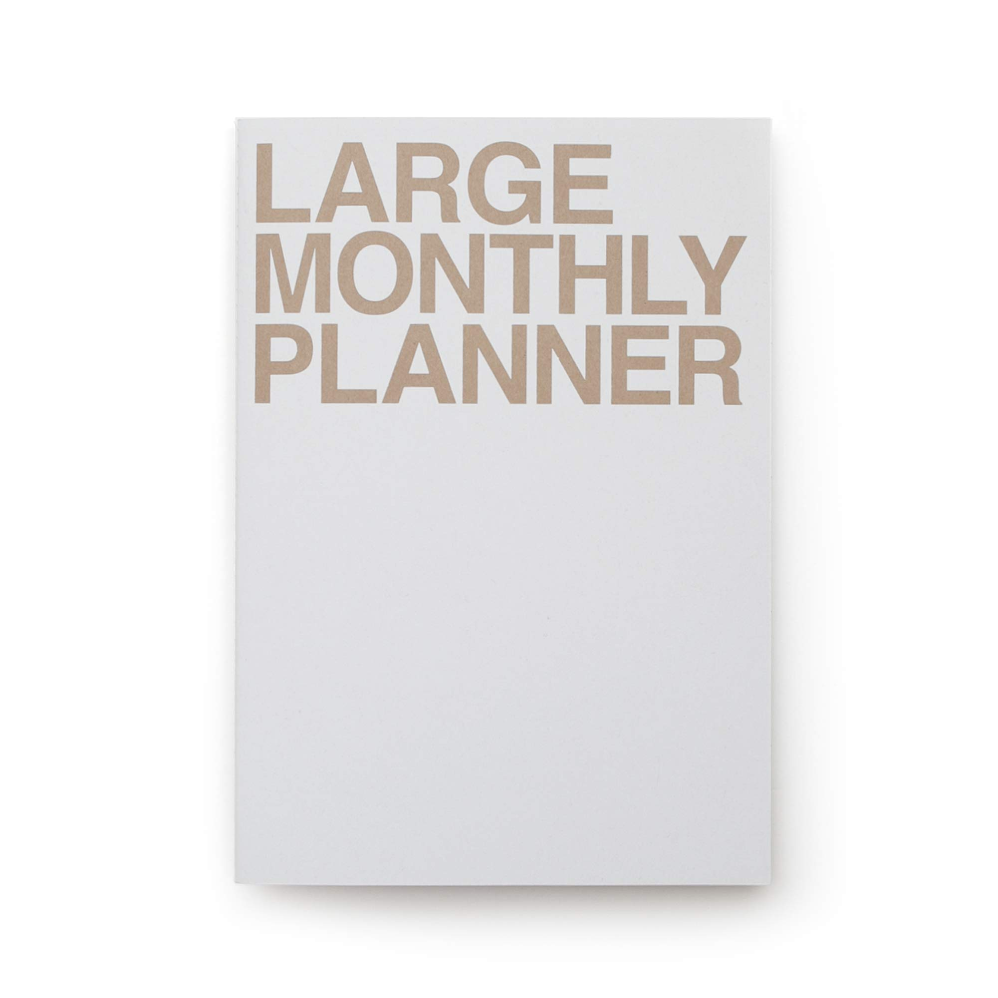 JSTORY Large Personal Wide Spaces Monthly Planner 18 Sheet Gray