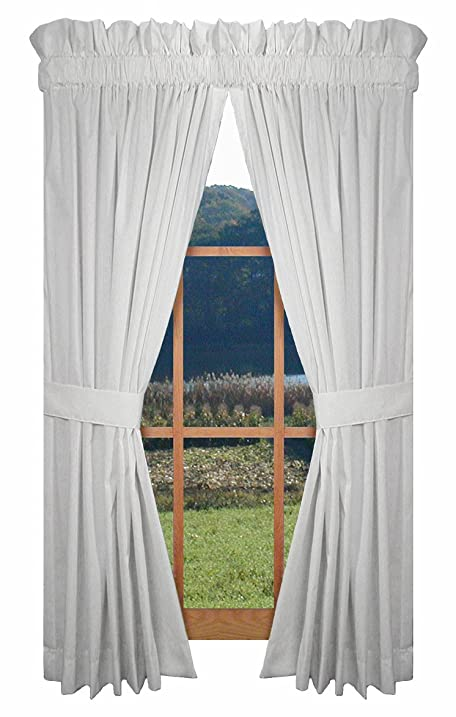 Kerry Tailored Panels Curtains Pair 80 Inch By 45 With Tie