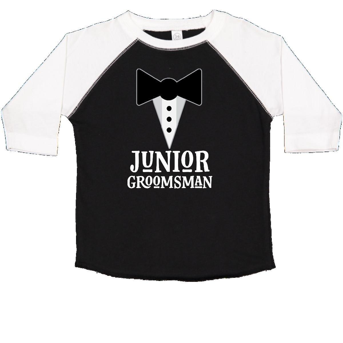 d7017708 Amazon.com: inktastic - Junior Groomsman Boys Wedding Party Mock Tux  Toddler T-Shirt 2dd44: Clothing