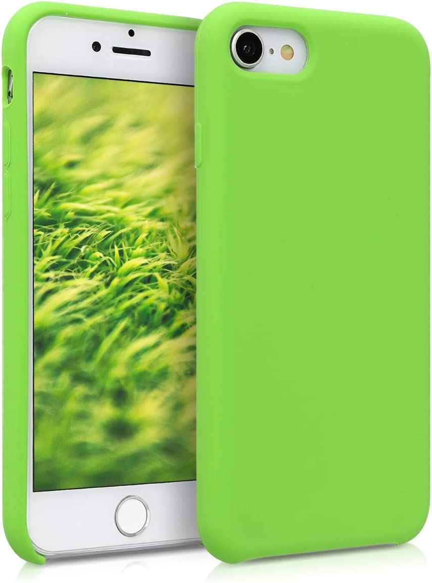 kwmobile TPU Silicone Case Compatible with Apple iPhone 7/8 / SE (2020) - Case Slim Protective Phone Cover with Soft Finish - Green