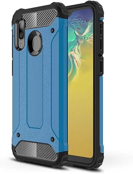 Spigen Cover Samsung Galaxy A20e Rugged Armor Progettato per Samsung Galaxy A20e Cover Custodia Nero