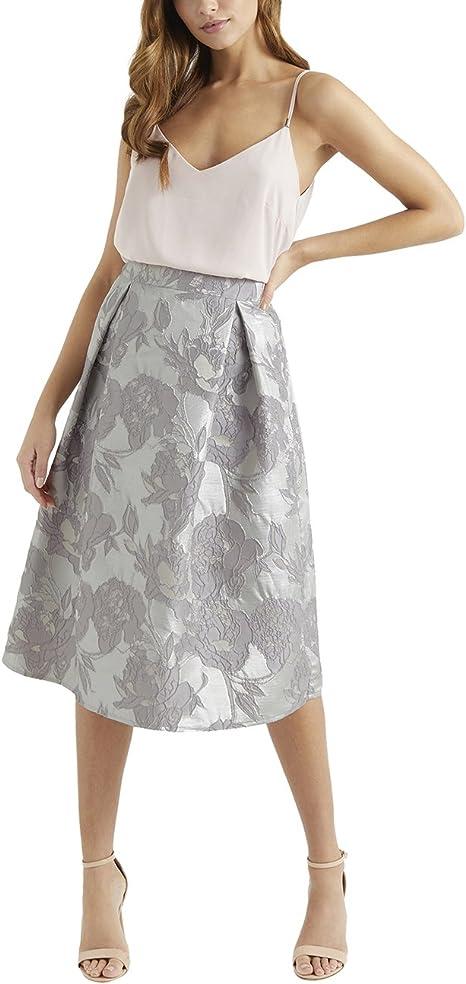 Lipsy Mujer Falda Para Ocasión Especial Plateado EU 46 (UK 18 ...