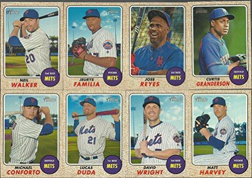 2017 Topps Heritage New York Mets Base Team Set 12 Cards David Wright Jose Reyes Neil Walker Matt Harvey Michael Conforto