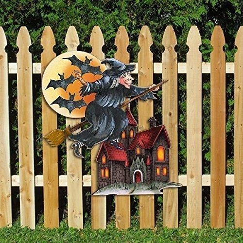 G Debrekht Halloween Witch Wooden Indoor Outdoor Hanging Door