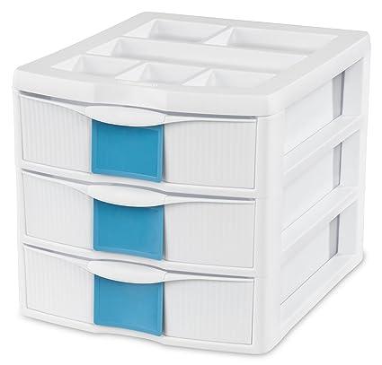 STERILITE Medium ID 3 Desktop Storage Drawer Unit White  sc 1 st  Amazon.com & Amazon.com: STERILITE Medium ID 3 Desktop Storage Drawer Unit White ...