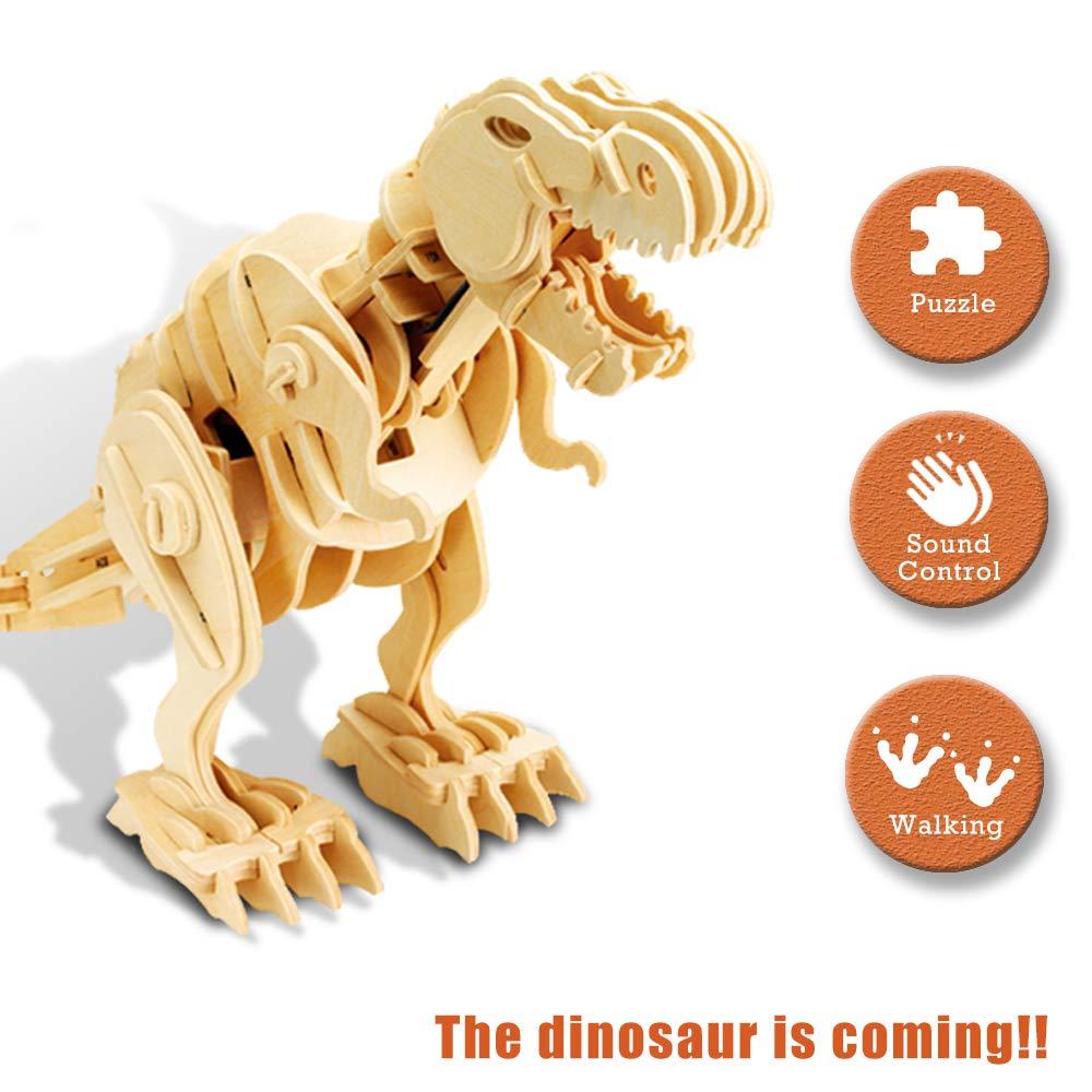 大人気新作 電動3D木製シミュレーション動物 恐竜組み立てパズル DIYボイスコントロール B07H2Z7CTD B07H2Z7CTD, コスメファーム:c70c45bf --- a0267596.xsph.ru