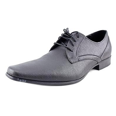 Mens Calvin Klein Benton Oxfords Shoes British Tan Textured Leather ODP22343
