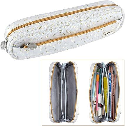 iSuperb Plumier Colegio Estuche Escolar Niño Bolsa Pencil Case para Lapices Estudiante Pen Holder Lápiz Bolsa para Adolescentes (color 1): Amazon.es: Oficina y papelería