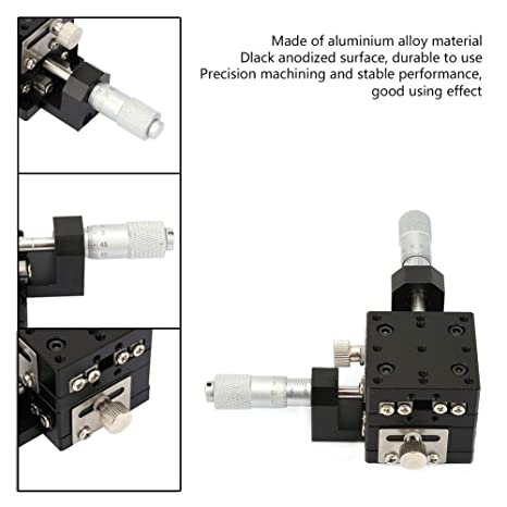 XY Micrometer Manual Fine-Tuning Cross Roller Precision Linear Stages 12012060mm XY Linear Stages