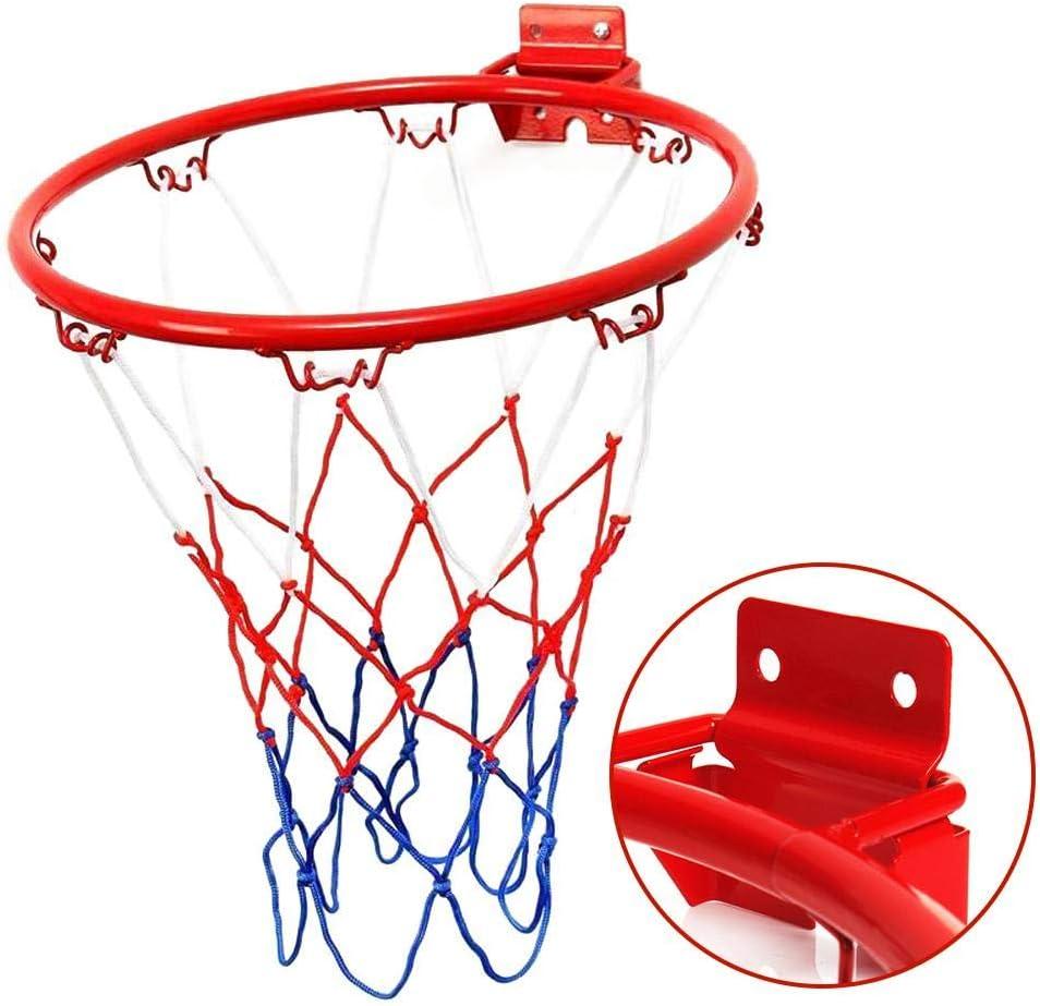 Panier de basket et filet pour enfants Fixation murale Pour chambre /à coucher Panier de basket portable en m/étal int/érieur ou ext/érieur Jouet pour enfants