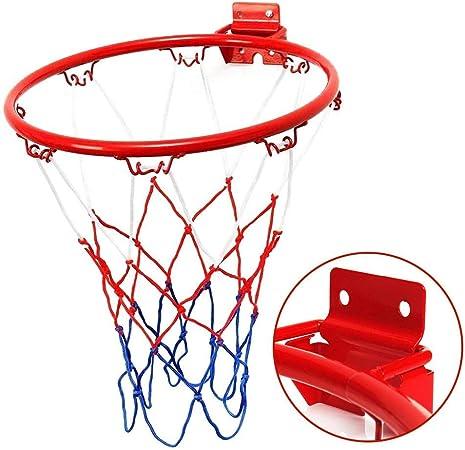 Panier De Basket Mont/é Au Mur en Plein Air Int/érieur Exterieur But But/ée avec Filet Diam/ètre 32 Cm Panier De Basket Mural
