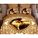 Boy and Girl - 100% Cotton Bed Linen Luxury Oil Painting 3d Bedding Set Bed Clothes Queen and King Size.