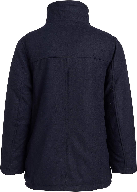 Urban Republic Boys/' Wool Dress Coat with Zipper Closure with Bib Insert
