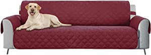 E-Living Store Z01678 Reversible Furniture Protector with 2 Inch Elastic Strap, Machine Washable, Perfect for Pet and Kids, Seat Width Up to 78