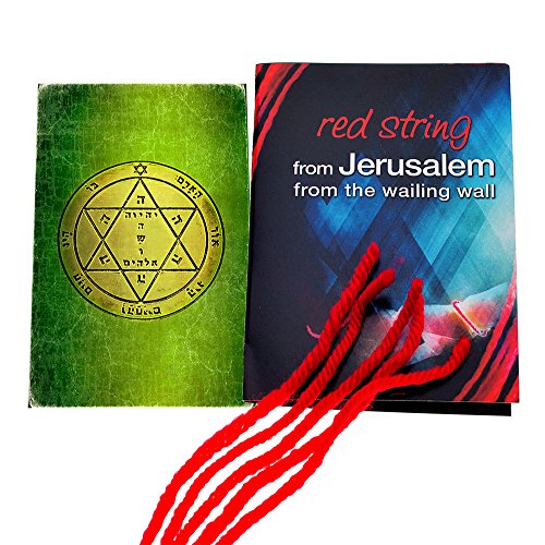 5 Kabbalah Red String Bracelets blessed in Jerusalem with King Solomon Health Seal Seal Amulet ()
