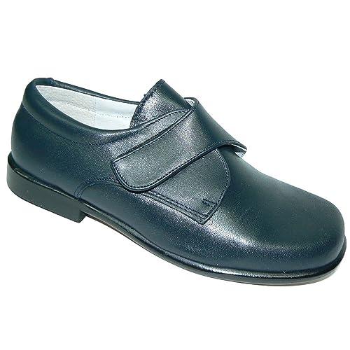 PITOSS 4001 Zapato Comunión con Velcro y de Piel para Niño: Amazon.es: Zapatos y complementos