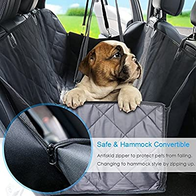 Dog Seat Cover Car Seat Cover for Pets Pet Seat Cover Hammock 600D Heavy Duty Waterproof Scratch Proof Nonslip Durable Machine Washable Soft Pet Back Seat Covers for Cars Trucks and SUVs