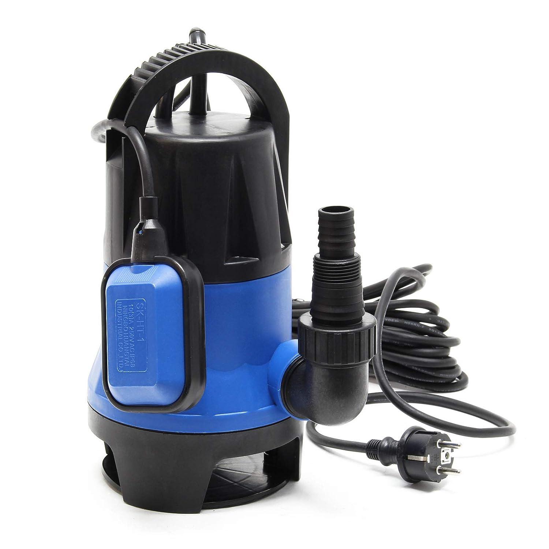 Bomba sumergible aguas sucias 400W 7500 litros//h Jard/ín Pozos Drenaje Bombeo agua Extracci/ón agua