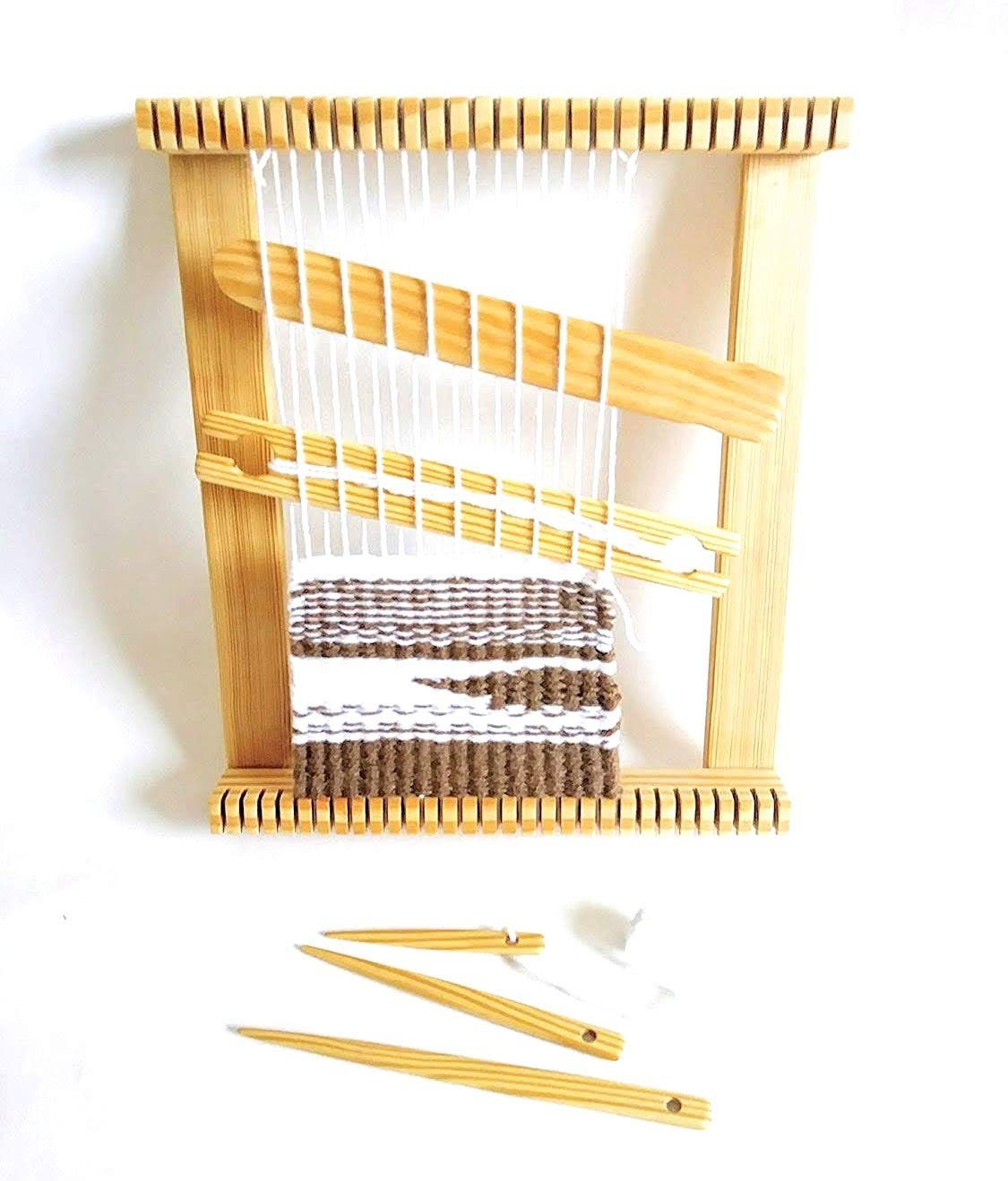 12 inches wide X 14 inches long Weaving loom kit Lap Loom, Frame Loom LoomsAndToolz z8488