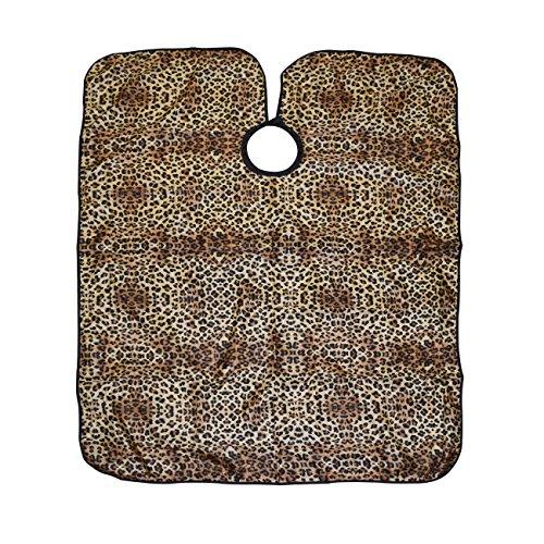Leopard Smock - Betty Dain All-Purpose Cutting/Styling Cape, Leopard Print