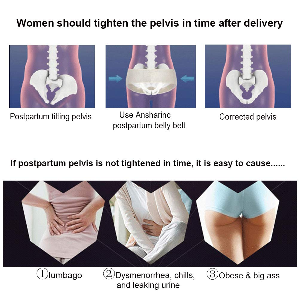Abdomen with High Elasticity Waist Trainer Belts Body Shaper Corset Band for Women C Section Recovery Belt for Belly Waist Pelvis Ansharinc Postpartum Support Recovery Belly Belt