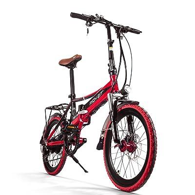 eBike_RICHBIT Vélo Électrique Pliant Vélo Électrique 250W Avec 48V * 8AH Amovible Lithium - Fer Batterie E-Vélo Adulte