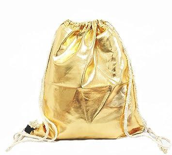 d3d9a50da5 Unbekannt Turnbeutel Rucksack Gym Bag Sportbeutel Hipster Beutel Gold  Metallic Glanz A26