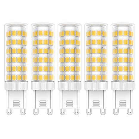 5X G9 LED de Bombillas 7W LED Lámpara 76 SMD 2835LEDs Bombilla Lámpara Blanco Cálido 3000K Super Brillante 650LM LED Bulb AC220V-240V: Amazon.es: ...