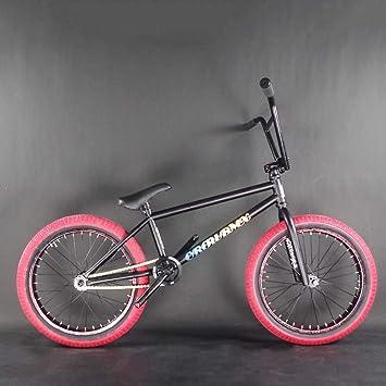 Adulto Freestyle BMX Bicicletas, aptas para Principiantes de Nivel avanzado para los Jinetes del Marco de Acero Motos de Calle de BMX, BMX Stunt Acción de Bicicletas, Ruedas de 20 Pulgadas,G: Amazon.es: