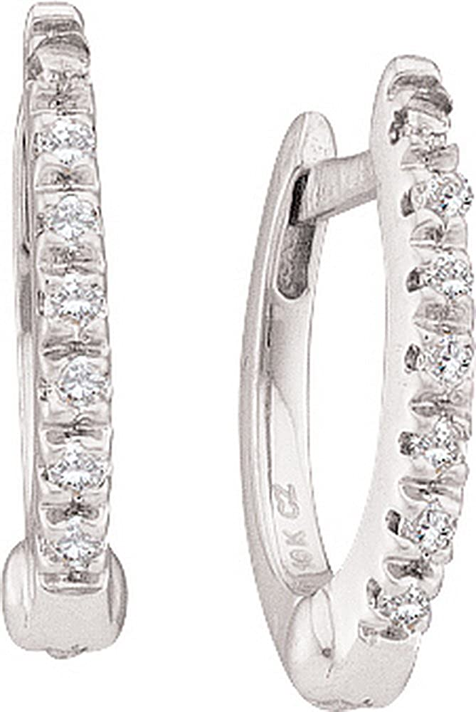 Whitegold 1 12 Total Carat Weight DIAMOND FASHION HOOPS