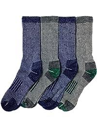 Mens Outdoor Trail Socks Merino Wool 4 Pairs