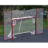 Ezgoal Hockey Backstop PUCK REBOUNDER - Perfect for Rebound Shot Practice , Folds Back for Games or Flat Storage , Heavy Duty Steel Frame with Premium Quality Netting
