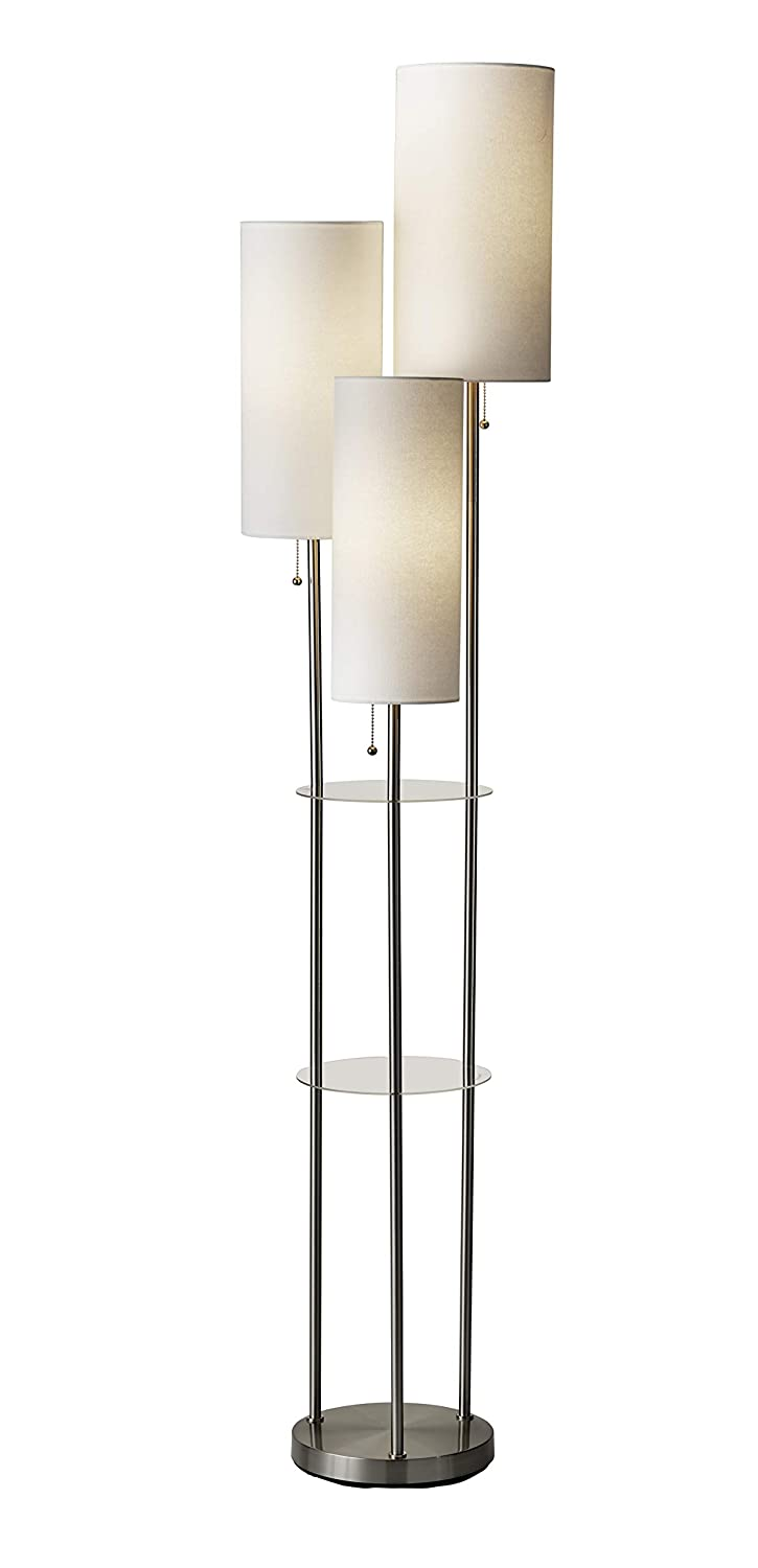 Adesso 4305-22 Trio Floor Lamp 68.00 x 14.00 x 11.70 inches Brushed Steel
