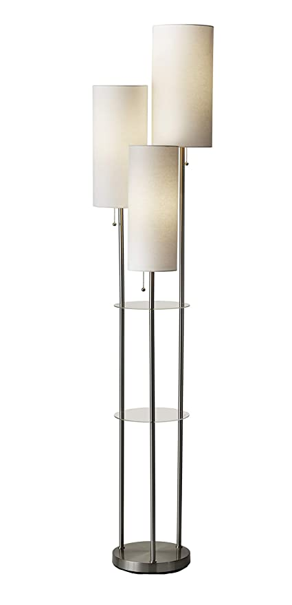 Adesso 4305 22 Trio 3 Light Floor Lamp 68 Height Smart Outlet