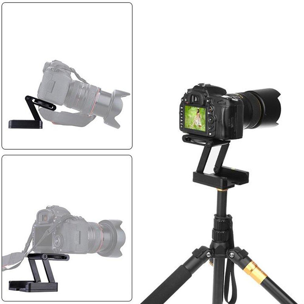 Pixco Folding Desktop Quick Release Plate Head Flexible Z-Type Pan for Camera Stand Holder Tripod Tilt Ball Head 150856
