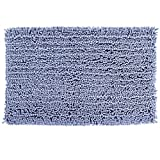 Sell4Style Plush Bath Mat Absorbent Chenille Bathroom Shower Rugs Soft Shaggy Carpet with Non-Slip Backing, 22 by 31- Inch (Blue)
