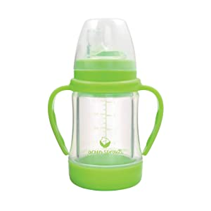 green sprouts Sip & Straw Cup made from Glass | Safer from the inside out | Liquids only touch silicone & glass, Straw supports healthy oral development