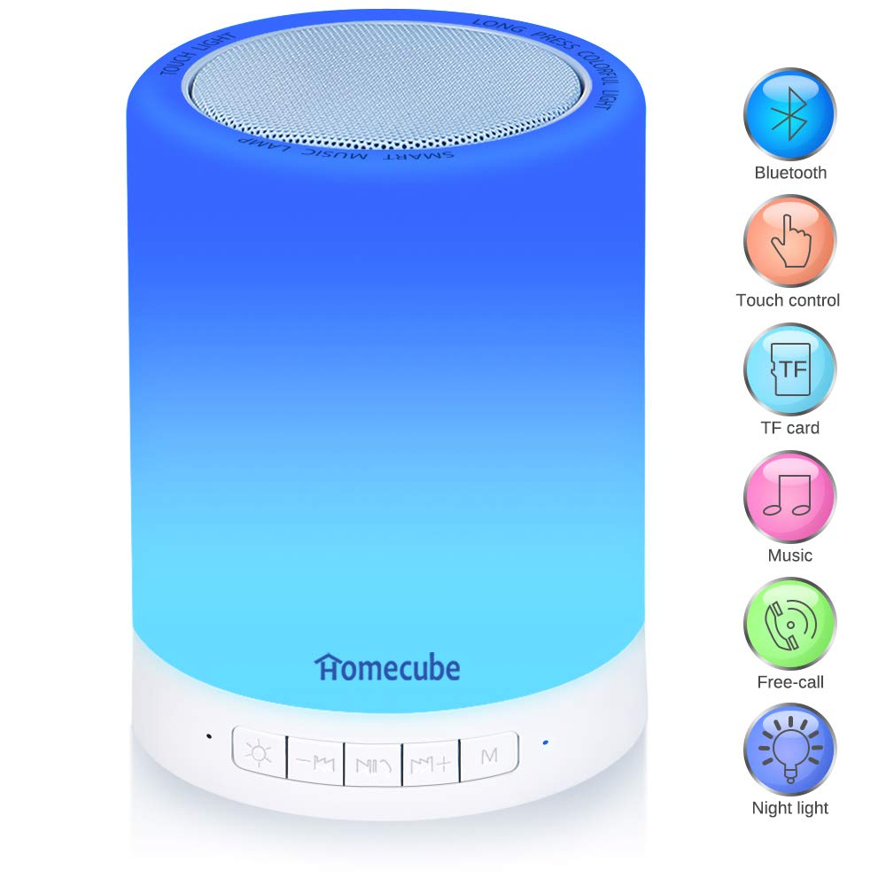 Led Table Lamps Collection Here Multifunction Led Colorful Night Lamp Clock Wireless Bluetooth Speaker Bedside Table Lamp Blue Night Table Lamps For Bedroom