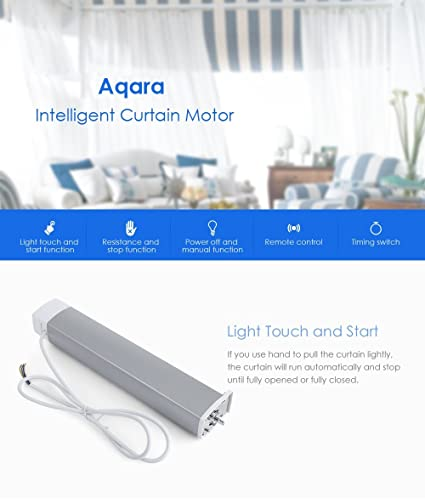 Global Tech Xiaomi Curtain Motor, WiFi Remote Control, Work for Xiaomi  Smart Home Kit Mi Home APP for Andriod and iOS (Alexa, White)