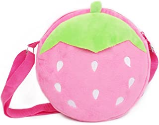 JERKKY Mini Cute Plush Shoulder Bag Moneta Borse Borse Snack per i Bambini Bambini Hot Pink Girasole