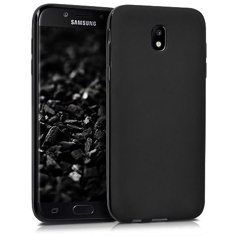 kwmobile Funda para Samsung Galaxy J5 (2017) DUOS - Carcasa para móvil en [TPU Silicona] - Protector [Trasero] en [Negro Mate]